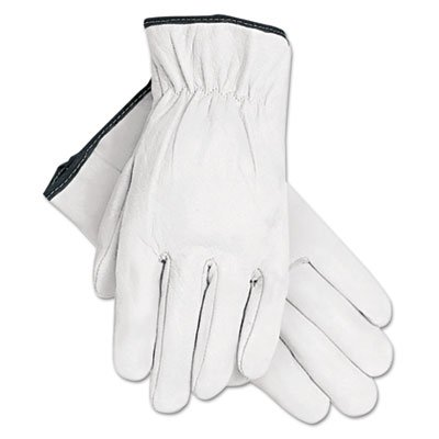 Grain Goatskin Driver Gloves, White, Extra-Large, 12 Pairs, Sold as 12 Each