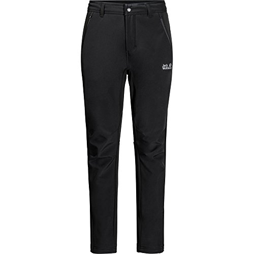 Jack Wolfskin Men's Zenon Softshell Windproof Softshell Hiking Pants, Black, Size90(US-M-30/33)