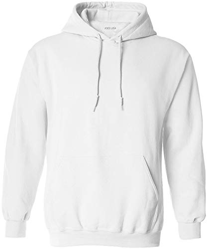 Joe's USA - Big Mens Size Two Extra Large Hoodie Sweatshirts-2XL in White