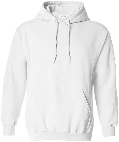 Joe's USA - Big Mens Size Two Extra Large Hoodie Sweatshirts-2XL in White ()
