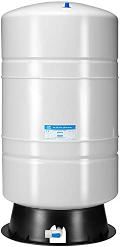 iSpring T20M 20 Gallon Pre-Pressurized Tank for Reverse Osmosis (RO) Systems with 14 gallons of water garage capability, 20 gal, White