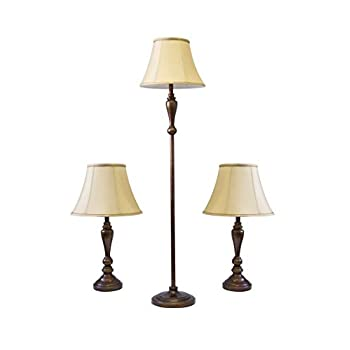 Image of Adesso 1587-26 Classic Lamp Set, Bronze Home Improvements