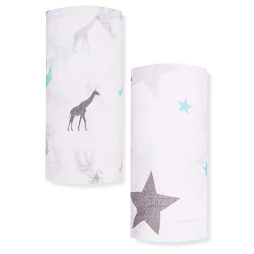 Muslin Swaddle Blanket & Receiving Blanket, 47