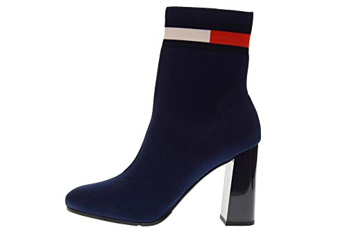 Heeled Femme Bottines 406 Tommy Boot EN0EN00277 Chaussures Hilfiger Bleu Sock qExxO0