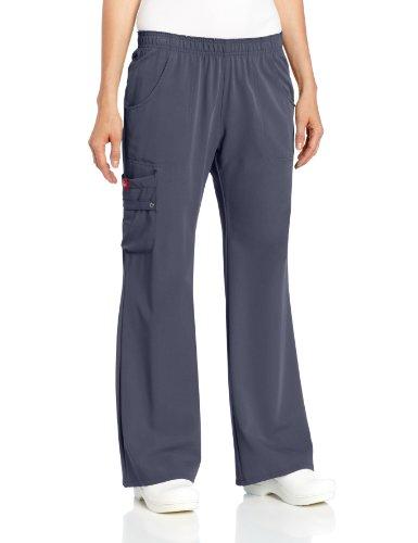 Elastic Waist Uniform Scrub Pants (Dickies Scrubs Women's Xtreme Stretch Fit Elastic Waist, Pewter, Medium)