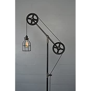 Industrial Floor Lamp (Steel Wheels)