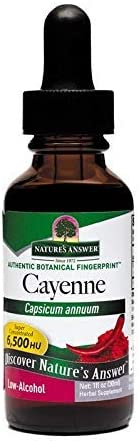Nature's Answer Cayenne Fruit Extract Helps Promote Digestive Health High Potency Made