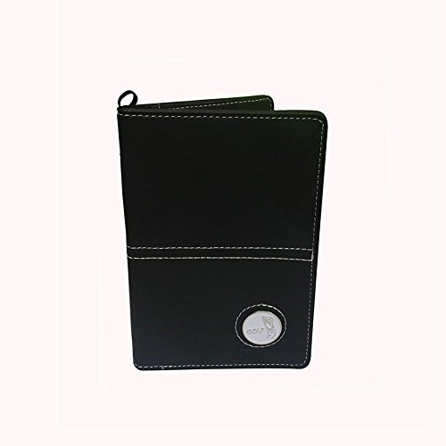 CRESTGOLF Executive Golf Scorecard Cover Holder,Free Send a Ball Mark--PU Leather,New Design