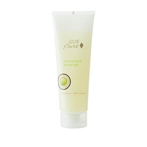 100% Pure Organic Bath Gel, Coconut Lime, 8 Ounce