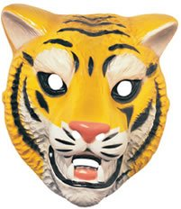 Rubie's Costume Co. Animal Mask-Tiger Costume, One Size, Multicolor ()