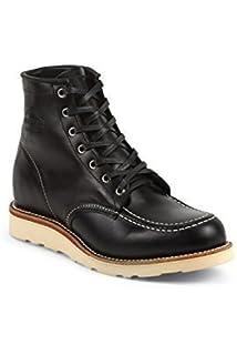 Chippewa 1901M19 Herren Leder Boots schwarz, moc Toe in Black Whirlwind  Full Grain mit Poron 58dd7aa948