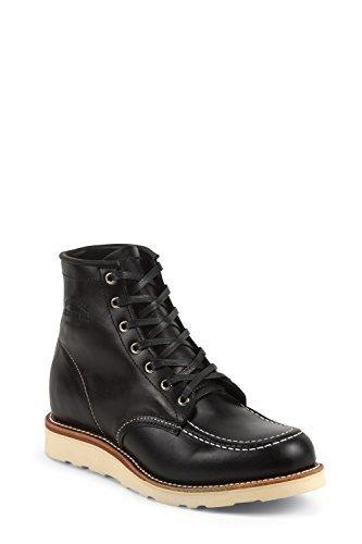 Chippewa 1901M19 Herren Leder Boots schwarz, moc Toe in Black Whirlwind  Full Grain Gr. 4e8a936ba2