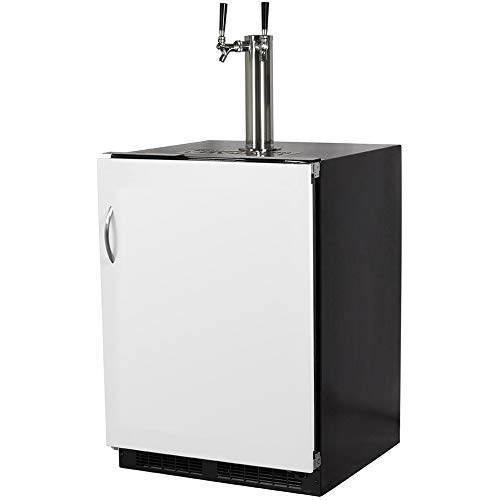 Marvel ML24BTP3RP Twin Tap Built-In Beer Dispenser with Right Side Hinge, 24
