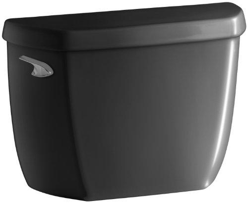 KOHLER K-4436-7 Wellworth 1.28 gpf Toilet Tank with Class Five Flushing Technology, Black ()