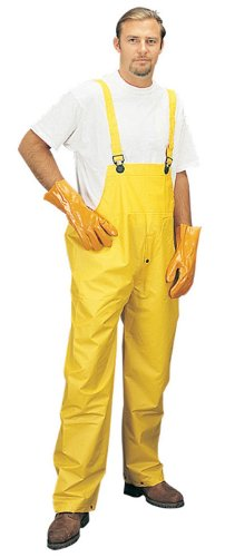 Liberty DuraWear PVC Single-Ply 3-Piece Protective Rainsuit, 0.25mm Thick, Large, Yellow (Case of 12)