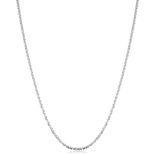 (Kooljewelry Sterling Silver 1.6 mm Sparkle Chain Necklace (20 inch))