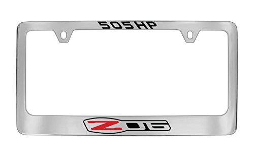 Chevrolet Corvette C6 Zo6 Chrome Metal license Plate Frame ()