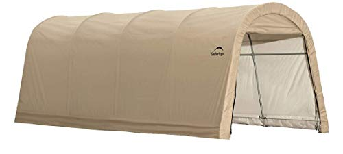 (ShelterLogic Replacement Cover Kit 10x20x8 Round Tan 90537 (5.5oz Tan))