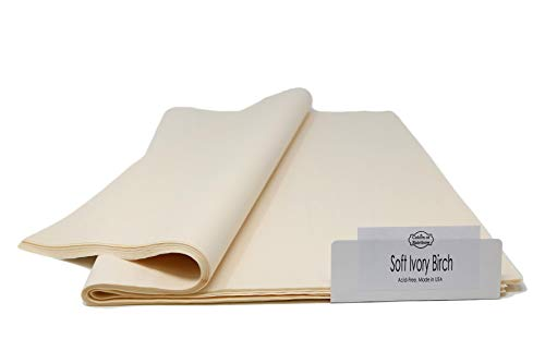 Soft Ivory Birch Tissue Paper - 120 Sheets - 15 Inch x 20 Inch - for Gift Bags, Gift Wrapping, Flower, Party Decoration, Pom Poms - Premium Quality Made in United States