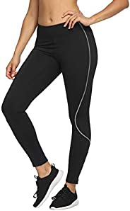 CQC Women's Fleece Lined Thermal Tights Running Yoga Cycling Leggings Athletic Compression P