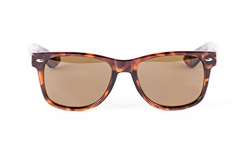 Classic Eyes Full Reading Wayfarer Sunglasses NOT Bifocals - Hard Case/Cleaning Cloth Included (Brown/Tortoise, 2 - Sunglasses Reading Full