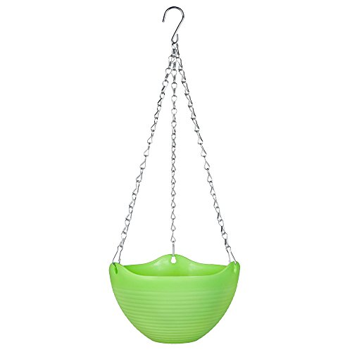 Mkono Hanging Flower Plant Pot Chain Basket Planter Holder 1pcsGreen