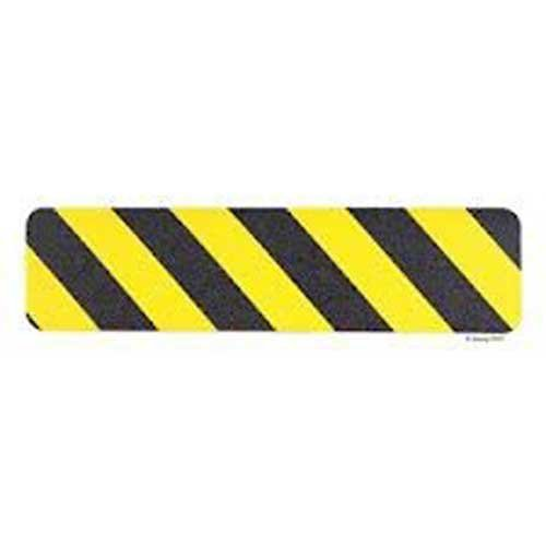 Datrex JM3360-6X24M, 6'' x 24'' Nonskid Safety Track Cleat, Yellow/Black, 1 Pack