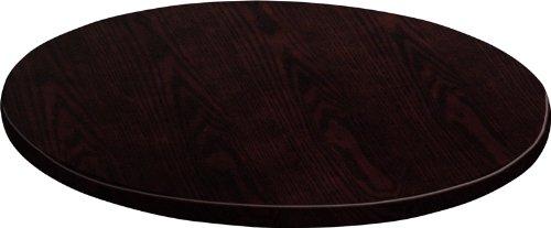Flash Furniture Round Walnut Veneer Table Top, 24