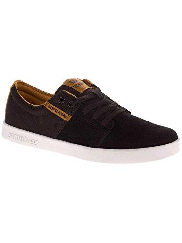 Supra STACKS II  Unisex-Erwachsene Sneakers black/woodthrush/white