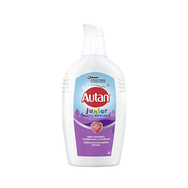 Autan Junior Gel, per Bambini oltre 2 Anni, Insetto Repellente e Antizanzare, 1 Confezione da 100 ml, Senza Profumo… 1 spesavip