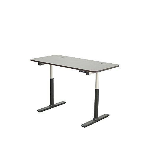 ApexDesk Vortex Series 60-in Wide 6-Button Electric Height Adjustable Sit to Stand Desk (Memory Controller, Espresso Top)