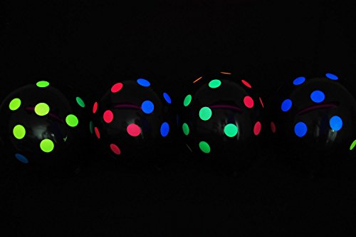 Black Latex Blacklight Reactive Balloons product image