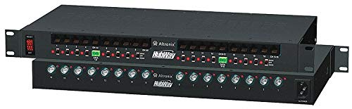 Steel Passive UTP Hub W/Power 16 Channel with Black Finish