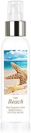 Beach Perfume Fine Fragrance Cologne Mist by Body Exotics 3.5 Fl Oz 103 Ml ~ a Fresh Blend of Warm Sand, Sea Spray, Driftwood, Lavender, Bright Citrus, Sand Jasmine, White Musk, Coconut, and Sea Salt