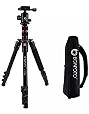 """ZOMEi Q222 58"""" Lightweight Tripod Monopod Portable Travel Camera Stand with 3-Way Pan Head and Carry Bag for Canon Nikon Sony DSLR"""