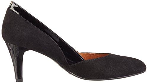 Caprice 22408, Zapatos de Tacón para Mujer Negro (BLK SUE COMB 009)