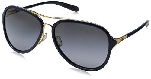 Oakley Women's Kickback OO4102-03 Aviator Sunglasses, Gold S