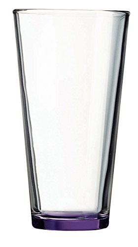 Purple Bottom Pint Glass - Additional Colors Available - 16oz Set of 6