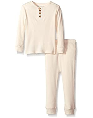 Unisex Baby Pajama Tee And Pant Set (Baby) - Ivory