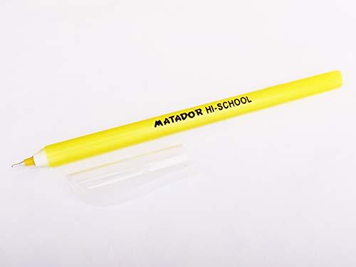 Matador Pencilic Premium Oil Gel Pen 0.4 mm Fine Black Ink 12 Pack