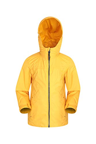 (Mountain Warehouse Torrent Kids Waterproof Rain Jacket - Mesh Lined Mustard 7-8 Years)