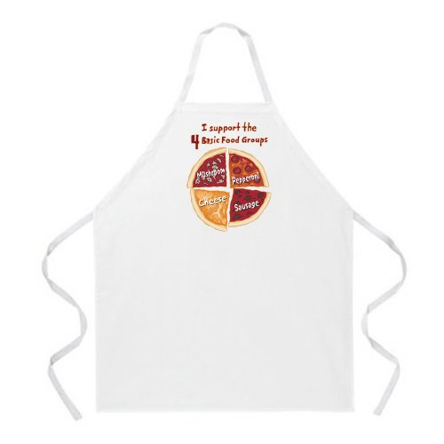 - Attitude Aprons Pizza Food Groups Apron, Natural, One Size Fits Most