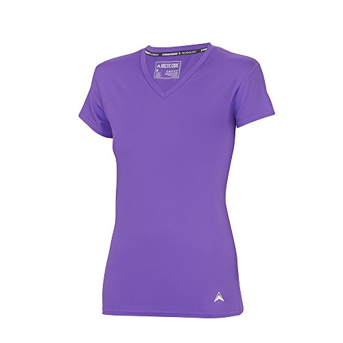 Arctic Cool Women's UPF 50+ V-Neck Instant Cooling Shirt with Sun Protection