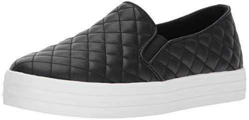 Skechers Street Women's Double up-Quilted Fashion Sneaker, Black, 8 M US