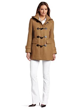 Cole Haan Women's Twill Toggle Coat, Camel, 2