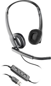 Plantronics Blackwire C220m Headset Microsoft Office Communicator Digital Sound Noise Canceling ()