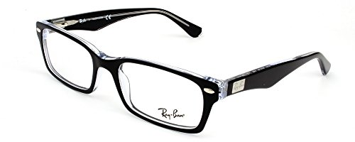 Ray-Ban Men's RX5206 Eyeglasses Top Black On Transparent - Ray Ban Rx Glasses
