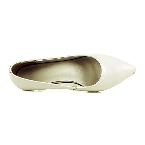 Allhqfashion Femmes Matière Douce Matière Doux Talons Décolletés Bout Fermé Escarpins-chaussures Beige