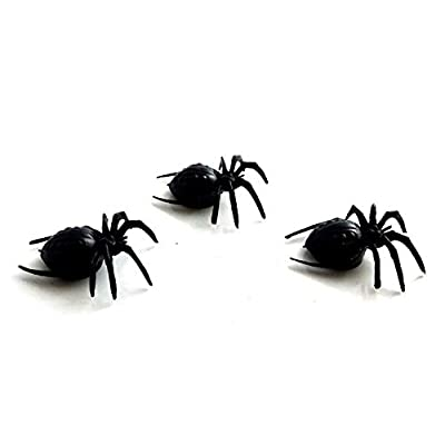 Melody Jane Dolls Houses House Miniature Halloween Shed Garden Accessory 3 Huge Scary Spiders: Toys & Games