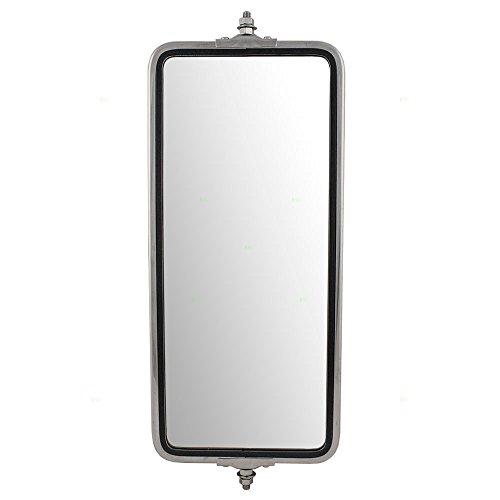 "Universal West Coast Truck Stainless Steel Side Mirror Head 7"" x 16"" Replacement AutoAndArt"